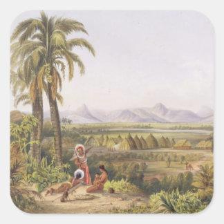 Pirara y lago Amucu, el sitio del EL Dorado, de Pegatina Cuadrada