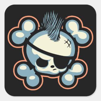 Pirata 1113 de Punkin Pegatina Cuadrada