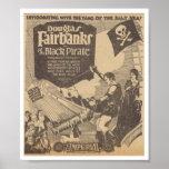 Pirata 1926 del negro de la paloma de Douglas Fair Impresiones