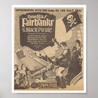 Pirata 1926 del negro de la paloma de Douglas Fair Póster