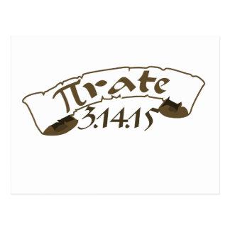 Pirata 2015 del día del pi tarjetas postales