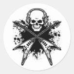 Pirata 3 de la música pegatina redonda