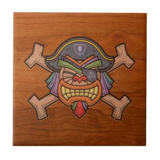Pirata 813 de Tiki Azulejo Cuadrado Pequeño
