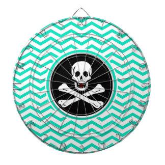 Pirata; Aguamarina Chevron verde
