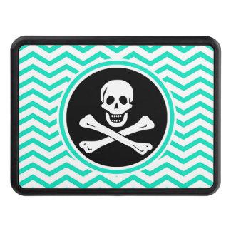 Pirata; Aguamarina Chevron verde Tapa De Remolque