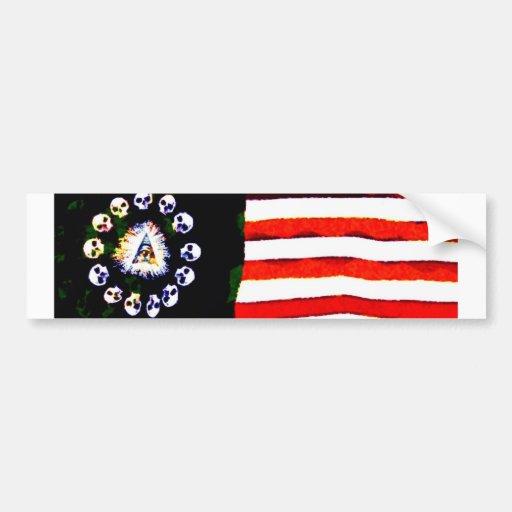 Pirata americano 005 pegatina de parachoque