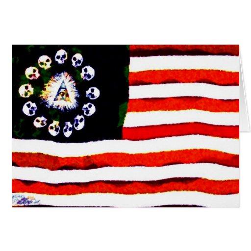 Pirata americano 005 tarjeta de felicitación