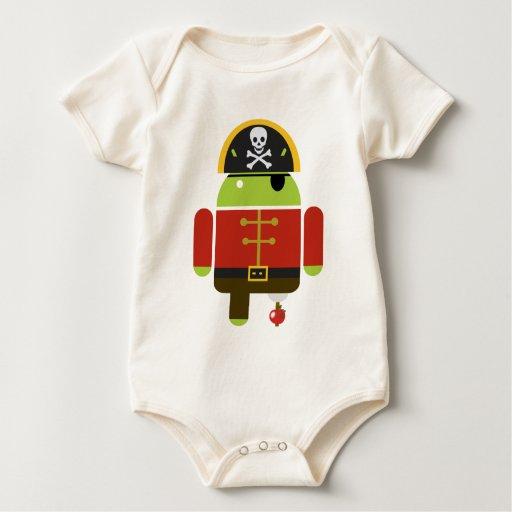 Pirata androide - Andy Body Para Bebé