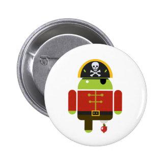 Pirata androide - Andy Pin Redondo De 2 Pulgadas