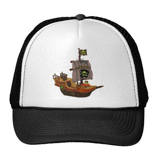 Pirata androide en una nave gorros bordados