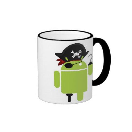 Pirata androide taza a dos colores
