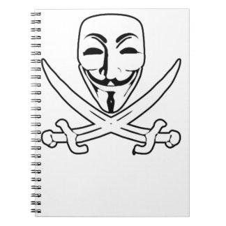 Pirata anónimo libretas