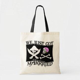 Pirata apenas casado bolsa tela barata