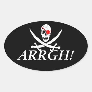 Pirata ARRGH Pegatina Ovalada