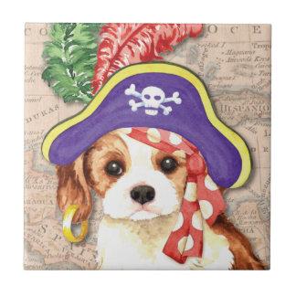 Pirata arrogante azulejo cuadrado pequeño