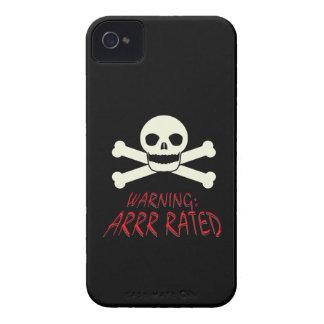 Pirata Arrr clasificado Case-Mate iPhone 4 Cobertura