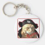 Pirata Arrrr del gatito Llaveros Personalizados