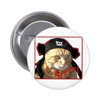 Pirata Arrrr del gatito Pin Redondo 5 Cm