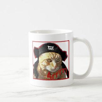 Pirata Arrrr del gatito Taza De Café