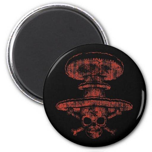 Pirata atómico de la seta imán redondo 5 cm