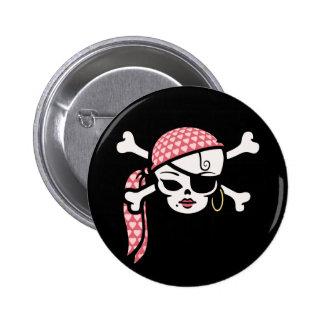Pirata atractivo pin redondo de 2 pulgadas