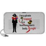 Pirata atrapado en el cuerpo de un hombre de negoc iPhone altavoz