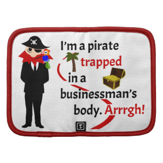Pirata atrapado en el cuerpo de un hombre de negoc planificador