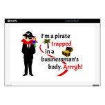 Pirata atrapado en el cuerpo de un hombre de negoc calcomanía para 43,2cm portátil