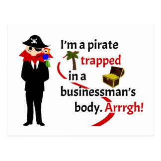 Pirata atrapado en el cuerpo de un hombre de tarjeta postal