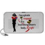Pirata atrapado en el cuerpo de una empresaria altavoz de viajar