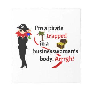 Pirata atrapado en el cuerpo de una empresaria libreta para notas