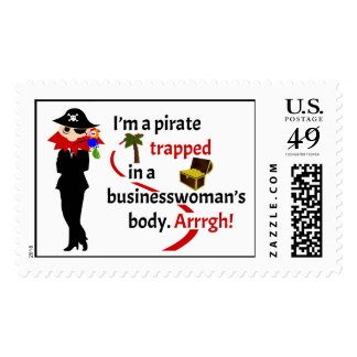 Pirata atrapado en el cuerpo de una empresaria sello