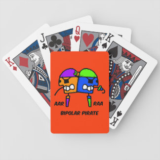 pirata bipolar divertido baraja de cartas bicycle