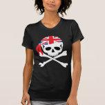 Pirata británico camisetas