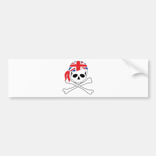 Pirata británico pegatina para auto