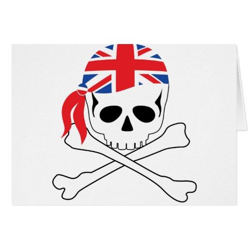 Pirata británico tarjeta de felicitación