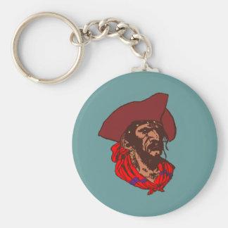 Pirata Buccaneer corsair pirate Llavero Redondo Tipo Pin