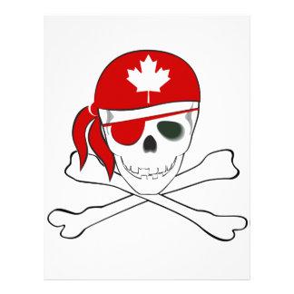 Pirata canadiense plantilla de membrete