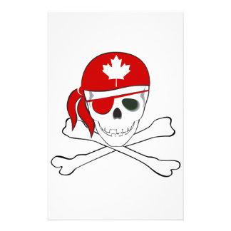 Pirata canadiense papelería personalizada