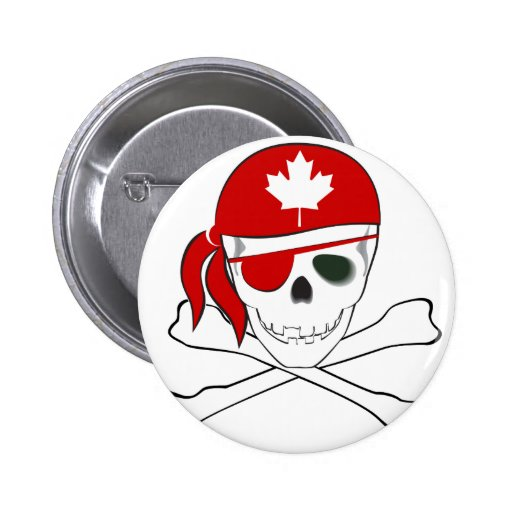 Pirata canadiense pin redondo 5 cm