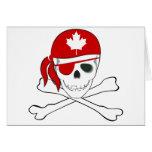 Pirata canadiense tarjeton