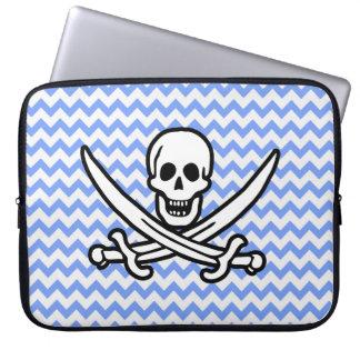 Pirata, Chevron azul Rogelio alegre Fundas Computadoras