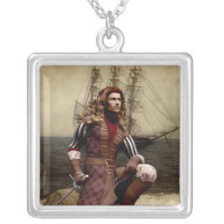 Pirata - collar pendiente de plata