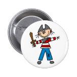 Pirata con el botón de la espada pins