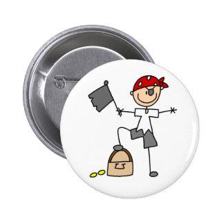 Pirata con el botón del tesoro pins