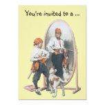 Pirata con el perro, fiesta del muchacho del invitación 12,7 x 17,8 cm