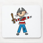 Pirata con la espada Mousepad Alfombrilla De Ratón
