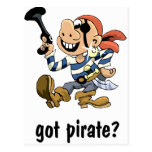 Pirata conseguido postal