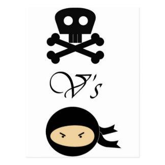 Pirata-Contra-Ninjas Postal