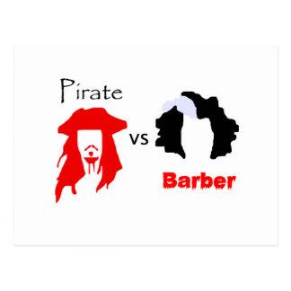 Pirata contra peluquero postal